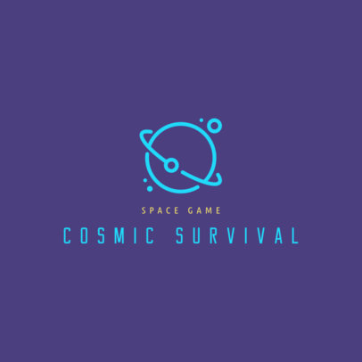 Space Game Logo Generator Featuring a Planet Doodle 2478m 129-el
