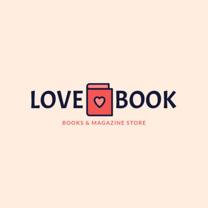 Simple Logo Maker for a Books and Magazine Store 1268f-118-el