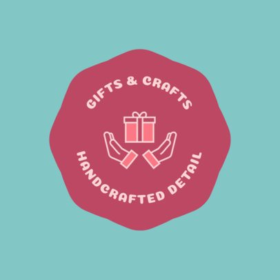 Online Logo Template for a Handcrafted Gift Shop 1396g 126-el