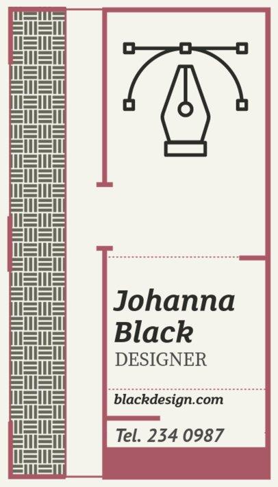 Modern Vertical Business Card Maker for a Digital Designer 306f-119-el