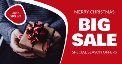 Facebook Ad Design Template for a Special Christmas Sale 13-el