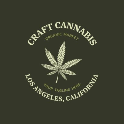 Cannabis Logo Maker for an Organic Market 2647a