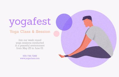 Flyer Template for a Yoga Event 1978d
