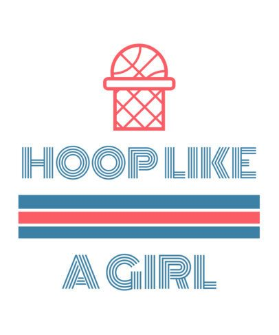 T-Shirt Design Maker for a Female Basketball Team 1191k 105-el