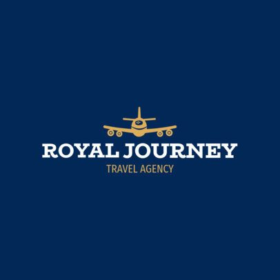 Travel Agency Logo Maker with a Landing Plane Icon 1148h-117-el