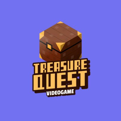 Gaming Logo Generator with an 8bit Treasure Chest Graphic 2667f