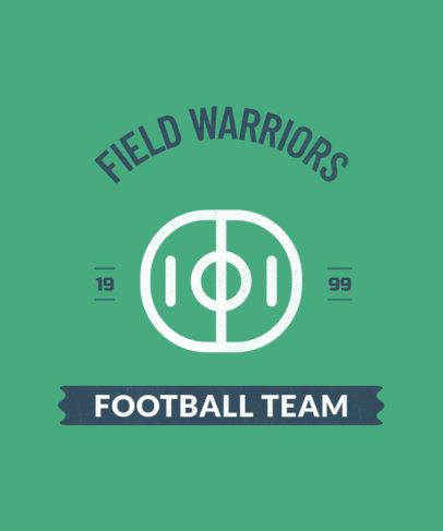 Sports T-Shirt Design Maker for a School Football Team 104b-el