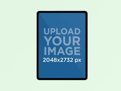 iPad Pro Mockup with a Solid Color Backdrop 988-el
