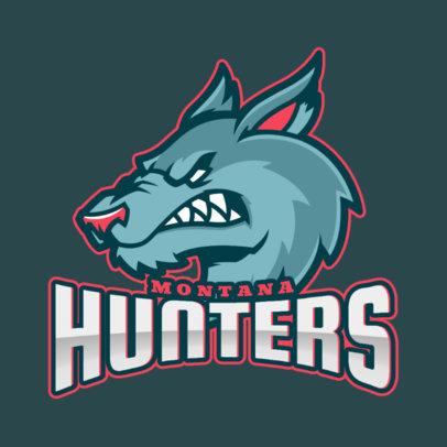 Logo Maker for a Sports Team with a Wolf Showing Its Fangs 2680f