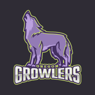 Sports Team Logo Maker with a Howling Wolf 2680g