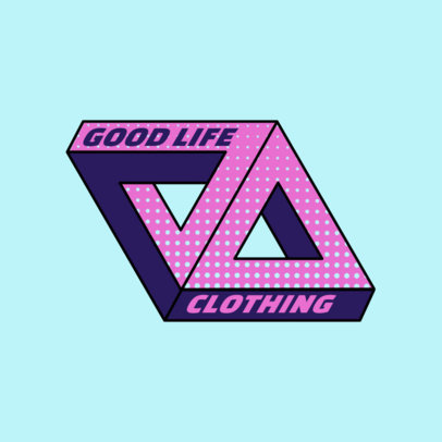 Urban Clothing Logo Template with a Palace-Inspired Graphic 2650a