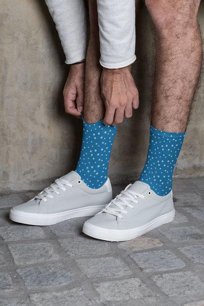Mockup of a Man Wearing Long Socks 29545