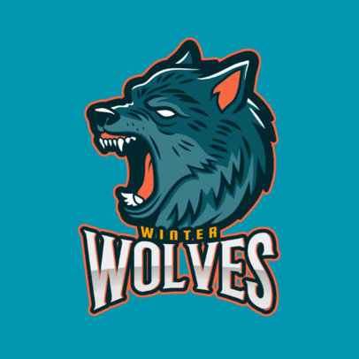 Aggressive Wolf Logo Maker for a Gaming Squad 2680k