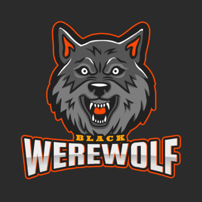Sports Logo Maker Featuring an Angry Wolf's Face 2680l