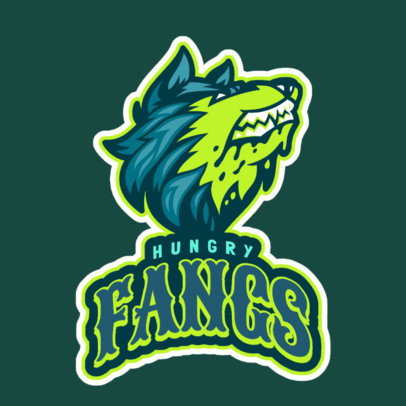 Logo Maker for a Sports Team with an Angry Wolf Mascot 2695d