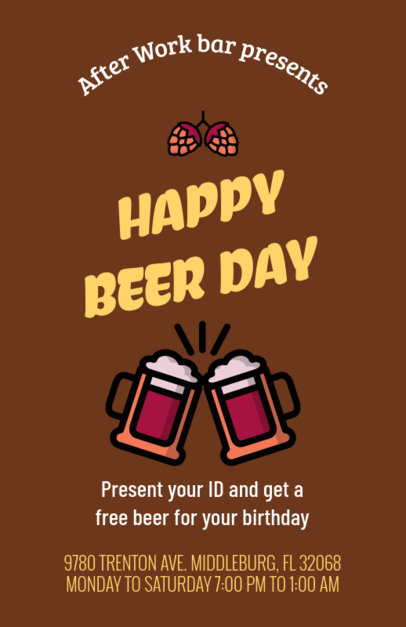 Online Flyer Generator for Beer Promos 94g 132-el