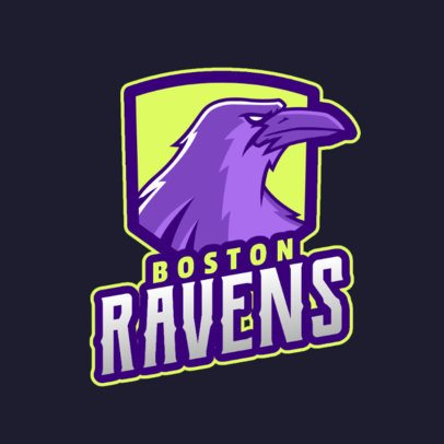 Sports Logo Maker for a Team with a Raven Mascot 2693b