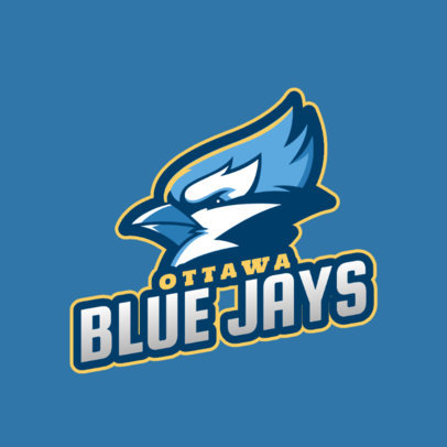 Logo Generator for a Sports Team Featuring an Aggressive Bird Graphic 2693c