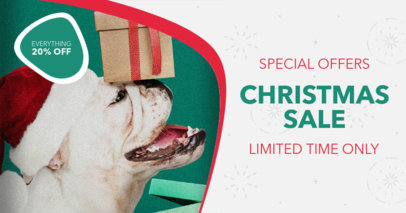 Facebook Ad Design Template for Christmas Special Offers