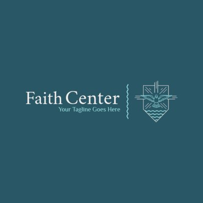 Church Logo Maker for a Religious Center with Holy Spirit Graphic 1771e