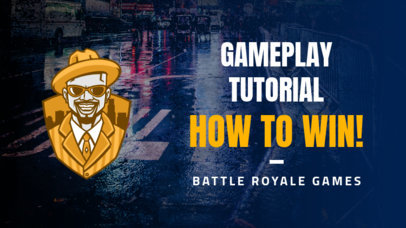 YouTube Thumbnail Design Maker for a Battle-Royale Gaming Channel