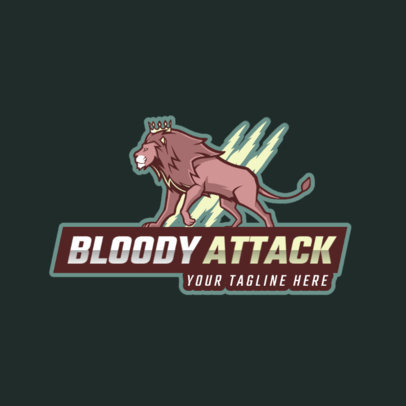 Gaming Logo Maker for a Local Team with a King Lion 2704a
