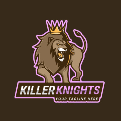 Gaming Logo Maker with an Angry Lion Clipart