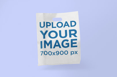 Plastic Bag Mockup Featuring a Plain Backdrop 1095-el