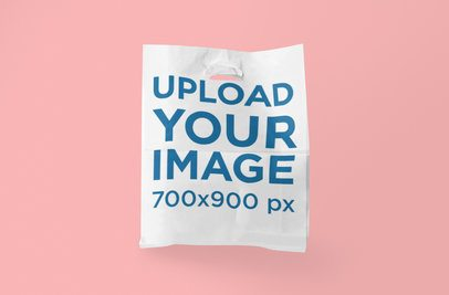Plastic Bag Mockup with a Plain Background 1096-el