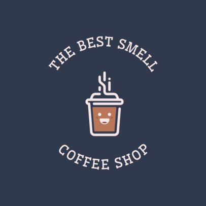 Coffee Shop Online Logo Generator Featuring a Happy Coffee Cup Clipart 950g 165-el