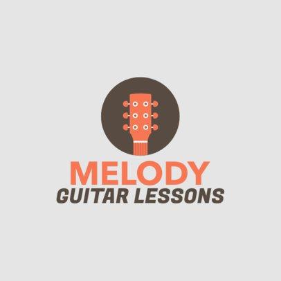 Simple Guitar Academy Logo Generator 1136g 75-el