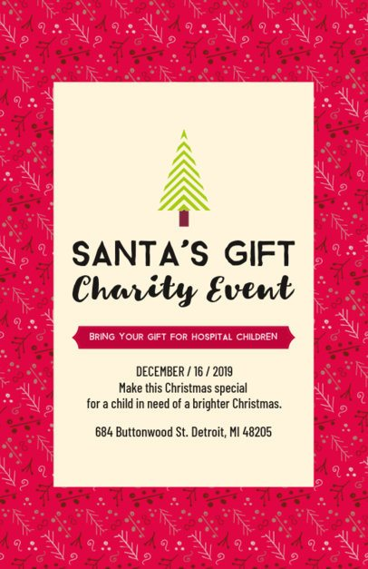 Flyer Maker for a Christmas Charity Event 109e-159 el