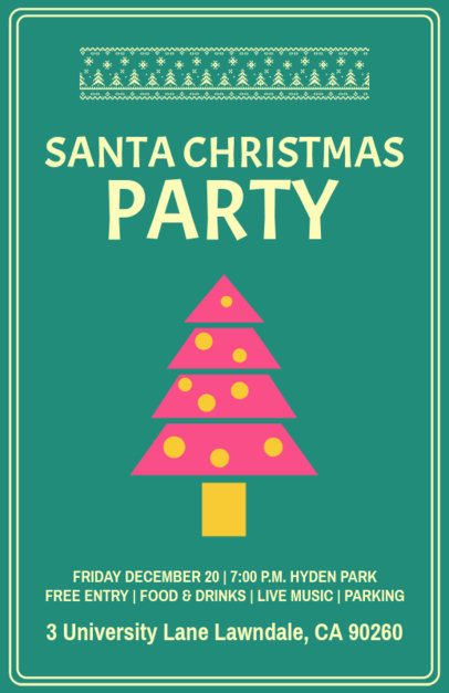Online Flyer Maker for a Children Christmas Party 844h 159-el