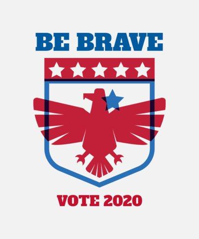 Political T-Shirt Design Template Featuring an Eagle Emblem 1990a