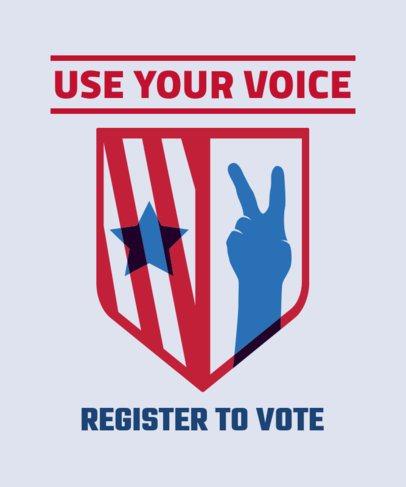 Elections T-Shirt Design Maker for a Voting Registration Campaign 1990d