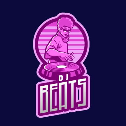 DJ Logo Maker Featuring a Retro Illustration 2661i-2694