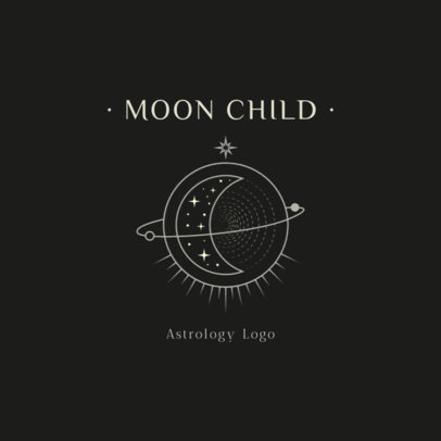 Astrology Logo Maker with a Moon Illustration 2662c