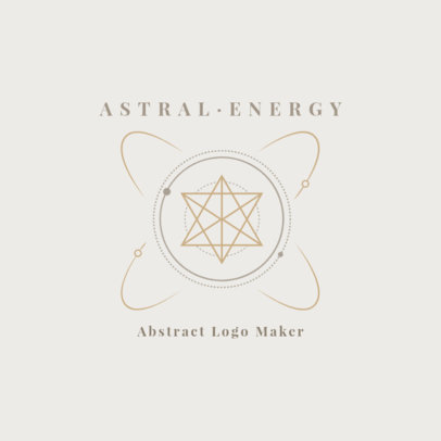 Abstract Logo Maker with an Astrology Theme 2662d