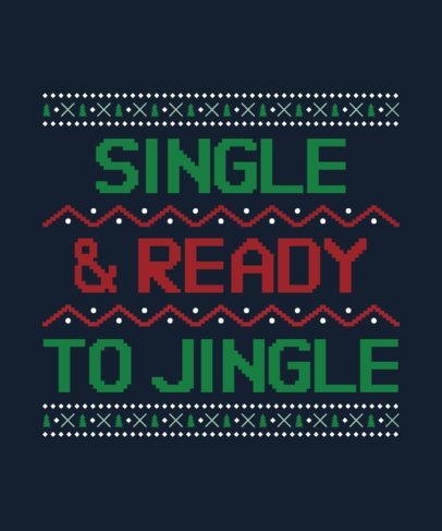 Ugly Christmas T-Shirt Maker with an Embroidered Sweater Look 29-el