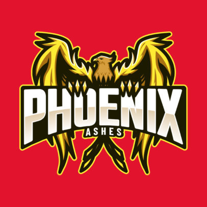 Logo Generator for a Sports Team with a Phoenix Mascot 2707g
