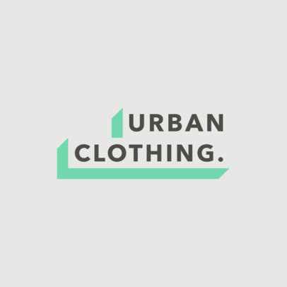 Streetwear Logo Template Featuring a Minimalistic Text Banner 2722