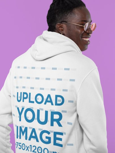 Back View Mockup of a Stylish Man Wearing a Hoodie at a Studio 30541