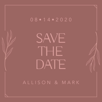 Instagram Post Maker for a Wedding Announcement