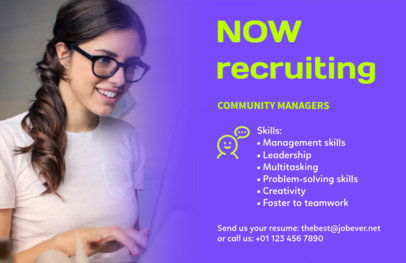 Recruitment Flyer Template with Bold Colors for HR Firms 291a