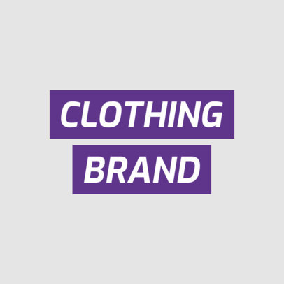Streetwear Clothing Brand Logo Template Featuring a Futuristic Typeface 2721a