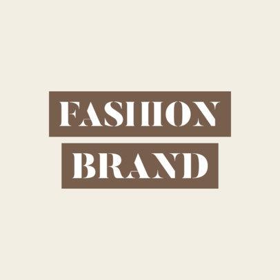 Simple Logo Maker for an Urban Clothing Brand 2721e