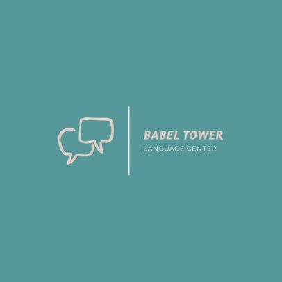 Simple Logo Maker for a Language Center 1340f 38-el