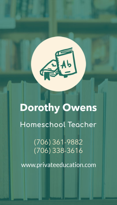 Business Card Maker for a Homeschool Teacher