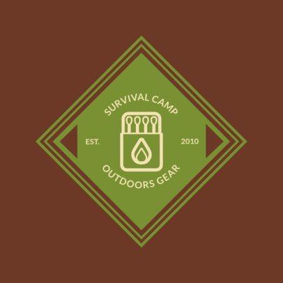 Online Logo Maker for a Survival Camp 1371f 115-el