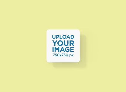 Mockup of a Squared Coaster with Rounded Corners 1220-el